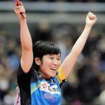卓球の平野美宇選手が可愛い。ラケットはどこのだろう?父母祖父や従兄弟も卓球選手!