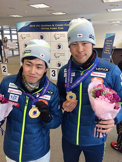 高村選手とガイドの藤田さん