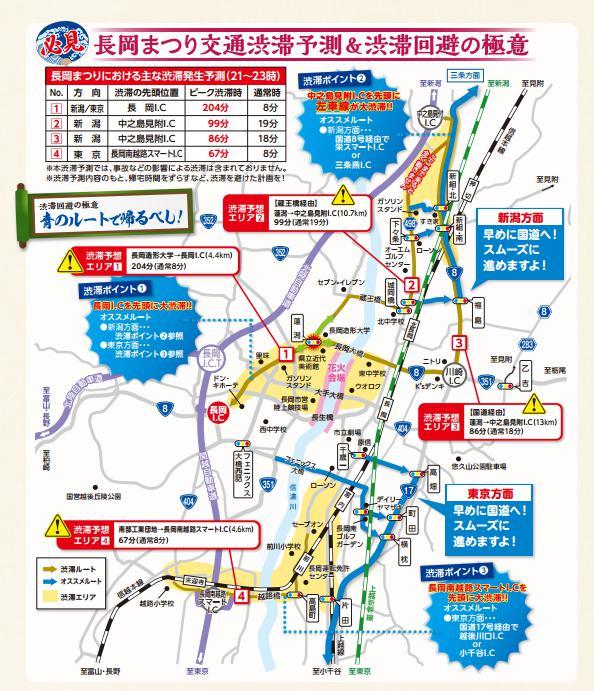 長岡花火渋滞予測渋滞回避