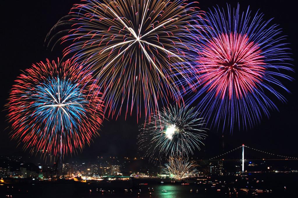関門橋花火大会2018の交通規制と駐車場は?トイレと穴場も調査!