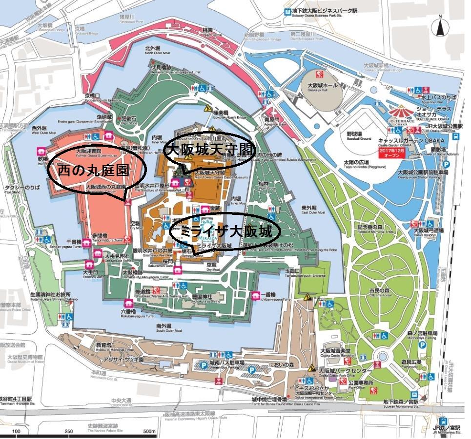 大阪城マップ