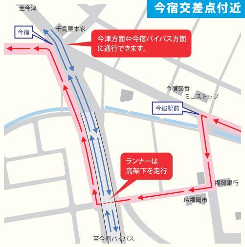 福岡マラソン交通規制03