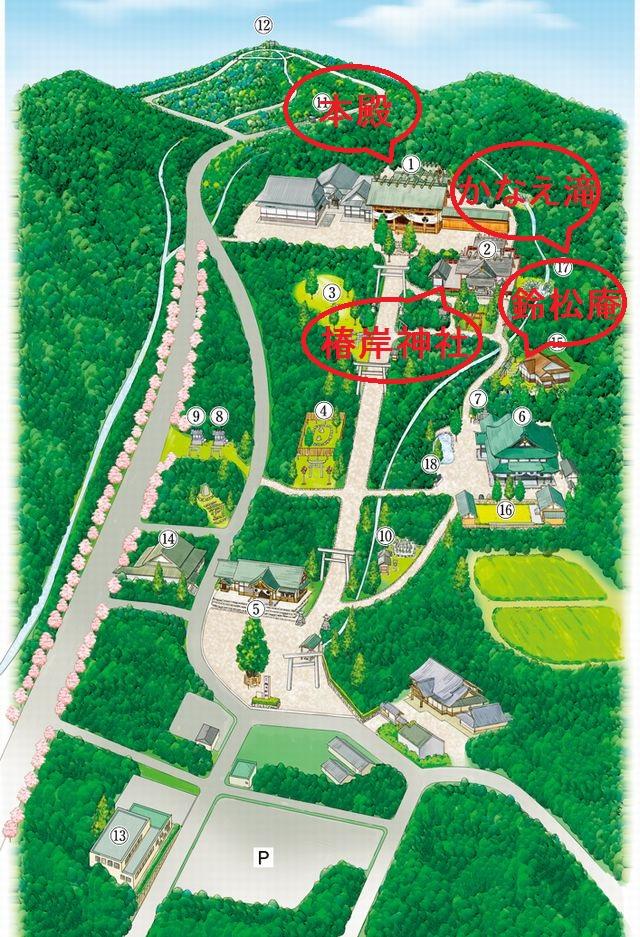 椿大神社境内マップ