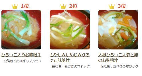 ひろっこ味噌汁