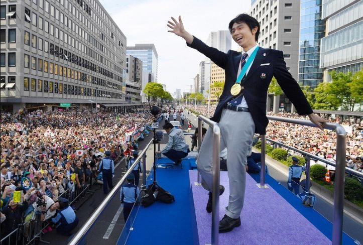 羽生結弦仙台パレード2018年4月22日(日)の動画や口コミと感想まとめ